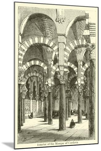 Interior of the Mosque of Cordova--Mounted Giclee Print