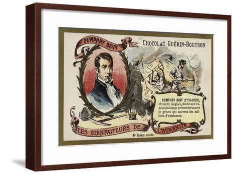 Humphry Davy, English Chemist--Framed Art Print