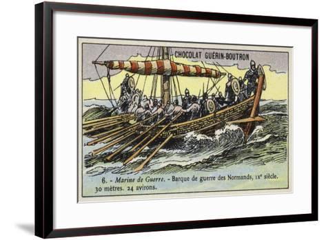 Norman Warship, 9th Century--Framed Art Print