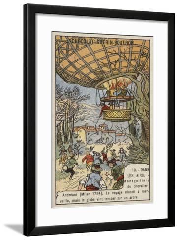 Balloon Flight of Andreani, Milan, 1784--Framed Art Print