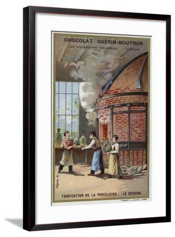 Porcelain Manufacturing. Firing--Framed Art Print