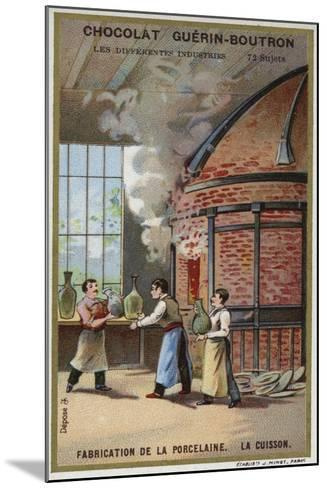 Porcelain Manufacturing. Firing--Mounted Giclee Print