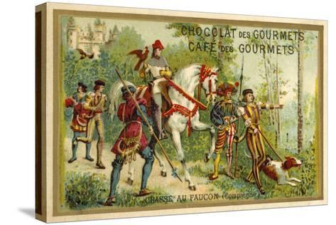 Hunting with Falcons, Compiegne, France--Stretched Canvas Print