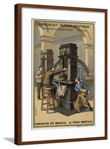 Manufacturing Coins, Coin Press--Framed Art Print