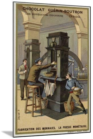 Manufacturing Coins, Coin Press--Mounted Giclee Print