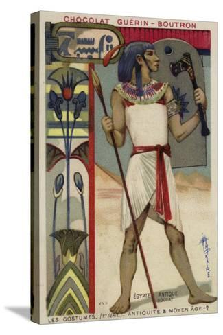 Ancient Egyptian Soldier--Stretched Canvas Print