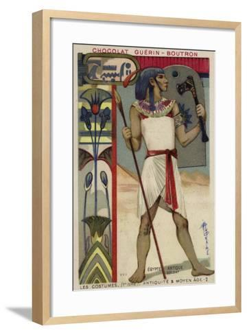 Ancient Egyptian Soldier--Framed Art Print