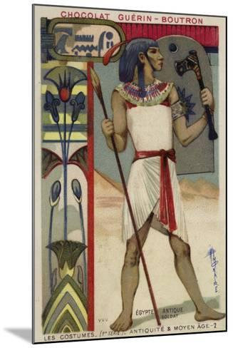 Ancient Egyptian Soldier--Mounted Giclee Print