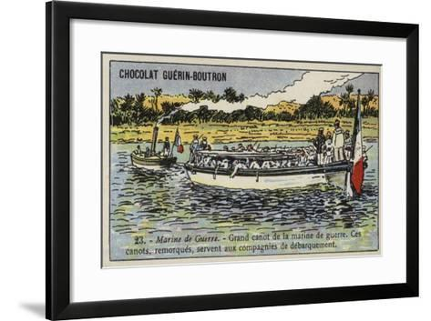 Large French Navy Cutter--Framed Art Print