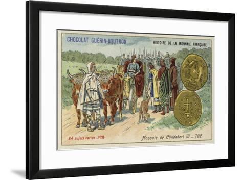 Coins of Childebert Iii, 702--Framed Art Print