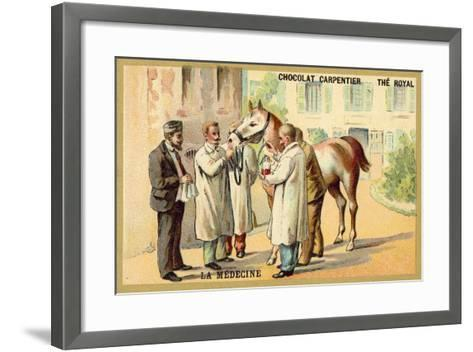 Taking Blood from a Horse--Framed Art Print