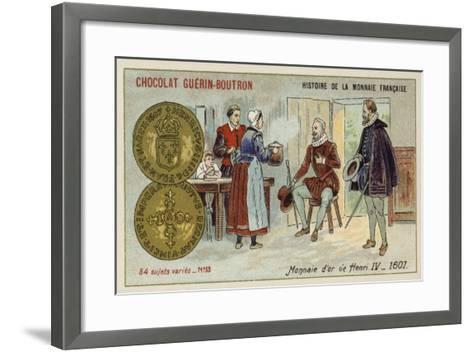 Gold Coins of Henry IV, 1607--Framed Art Print
