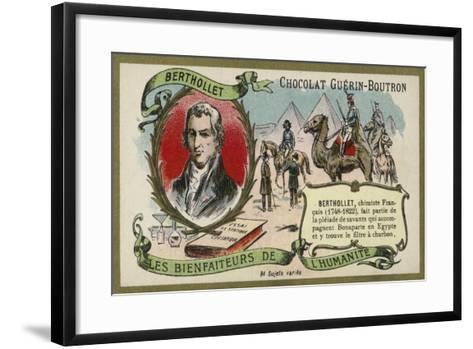 Claude Louis Berthollet, French Chemist--Framed Art Print
