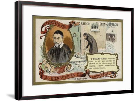 St Vincent De Paul, French Priest--Framed Art Print