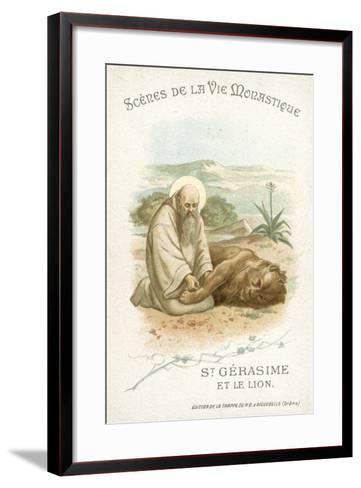 St Gerasimus and the Lion--Framed Art Print