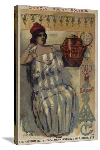 Woman of Kabylie, Algeria, 19th Century--Stretched Canvas Print