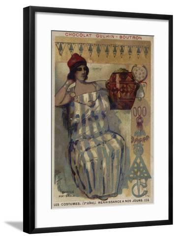 Woman of Kabylie, Algeria, 19th Century--Framed Art Print