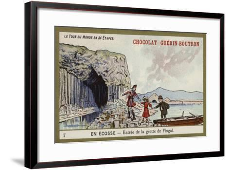 Entrance to Fingal's Cave; Scotland--Framed Art Print