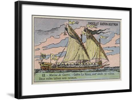 French Galley Reale, 17th Century--Framed Art Print