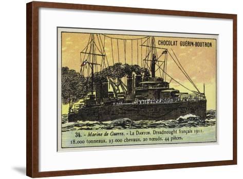 French Battleship Danton, 1911--Framed Art Print