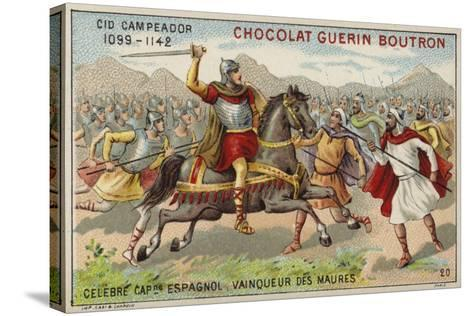 El Cid Fighting the Moors--Stretched Canvas Print
