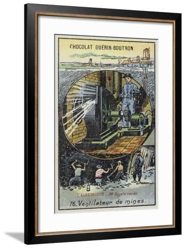 Fan for Ventilating Mines--Framed Art Print