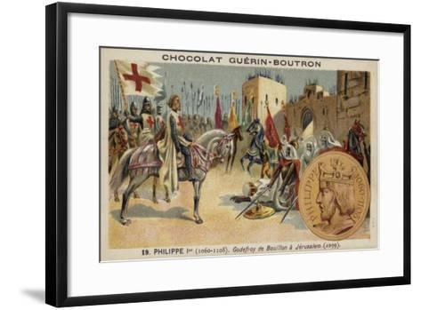 Godfrey of Bouillon at Jerusalem, 1099--Framed Art Print