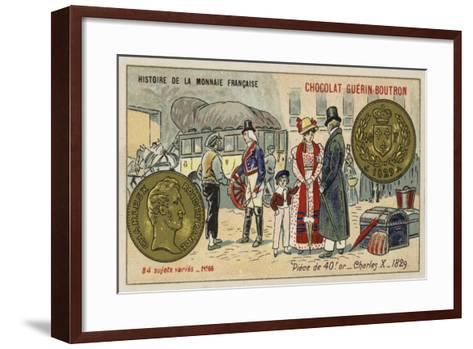 Gold 40 Franc Piece of Charles X, 1829--Framed Art Print