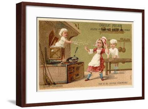 Too Much Salt - Unpleasant Surprise--Framed Art Print