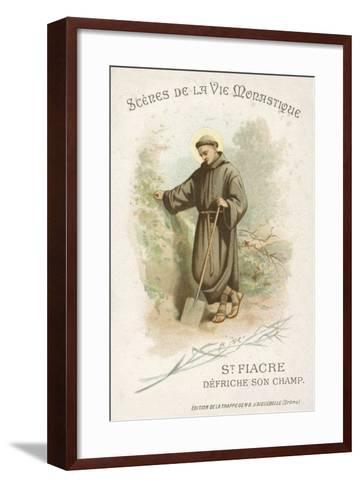 St Fiacre Clearing His Field--Framed Art Print
