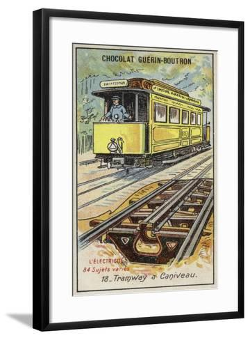 Tramway with Electrified Third Rail--Framed Art Print