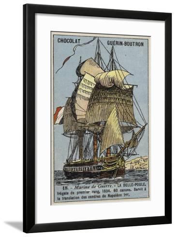 French Frigate Belle Poule, 1834--Framed Art Print