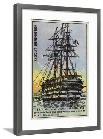 French Naval School Ship Borda--Framed Art Print