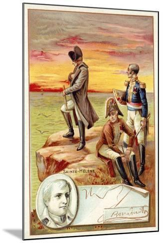 Napoleon in Exile on St Helena--Mounted Giclee Print
