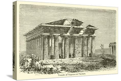 Temple of Neptune at Paestum--Stretched Canvas Print