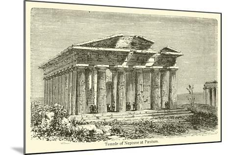 Temple of Neptune at Paestum--Mounted Giclee Print