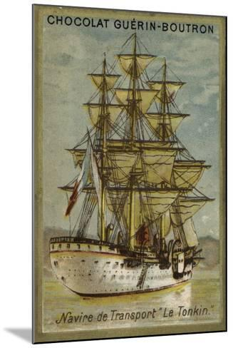 French Transport Ship Tonkin--Mounted Giclee Print