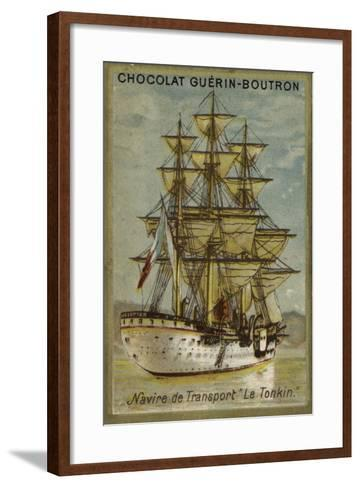 French Transport Ship Tonkin--Framed Art Print