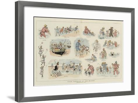 Young Parisians at the Seaside--Framed Art Print