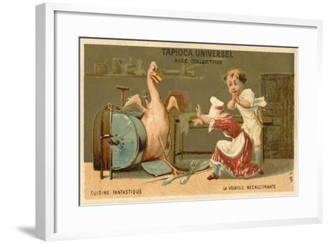 The Recalcitrant Chicken--Framed Art Print