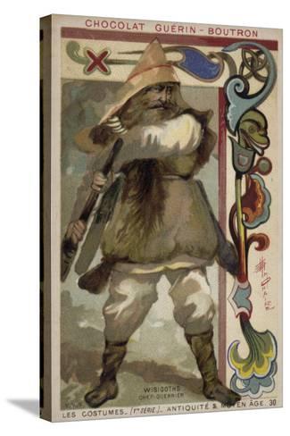 Visigoth Warrior Chieftain--Stretched Canvas Print