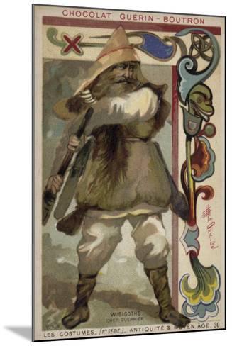 Visigoth Warrior Chieftain--Mounted Giclee Print