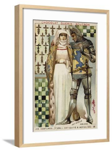 Costumes of the Nobility, 13th Century--Framed Art Print