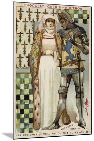 Costumes of the Nobility, 13th Century--Mounted Giclee Print