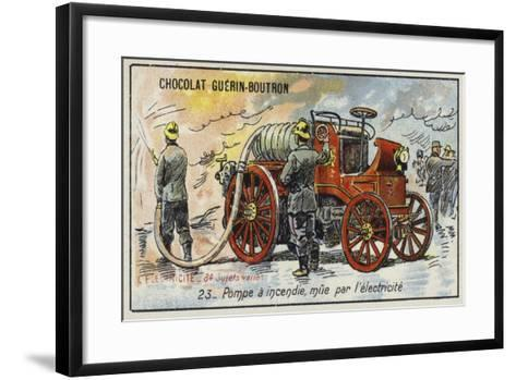 Electrically-Powered Fire Engine--Framed Art Print