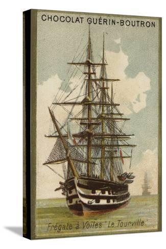 French Sailing Frigate Tourville--Stretched Canvas Print