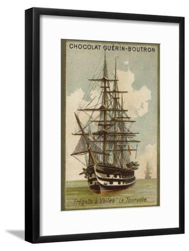 French Sailing Frigate Tourville--Framed Art Print