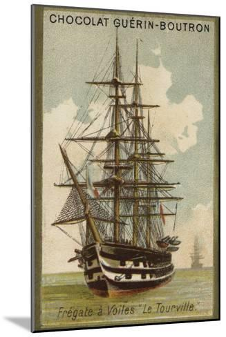 French Sailing Frigate Tourville--Mounted Giclee Print