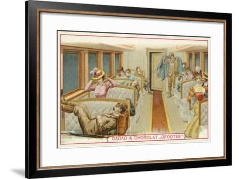 Passengers in a Railway Carriage--Framed Art Print