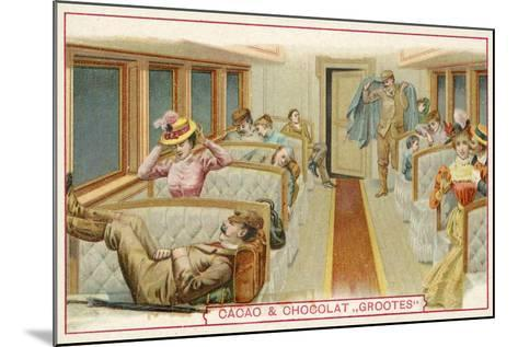 Passengers in a Railway Carriage--Mounted Giclee Print